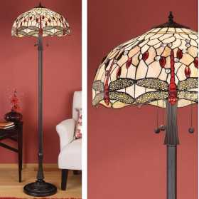 Interior 1900 Oxfordshire T0056F Beige Dragonfly Floor Lamp