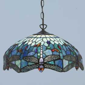 Interior 1900 Oxfordshire T009P50 Dragonfly Blue Large Pendant