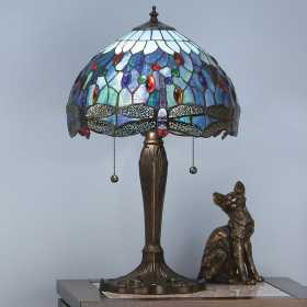 Interior 1900 Oxfordshire T009TM Dragonfly Blue Medium Table Lamp