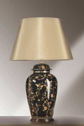 Luis Collection LUI/BLKBIRDS TJL Black Birds Temple Jar Large Table Lamp